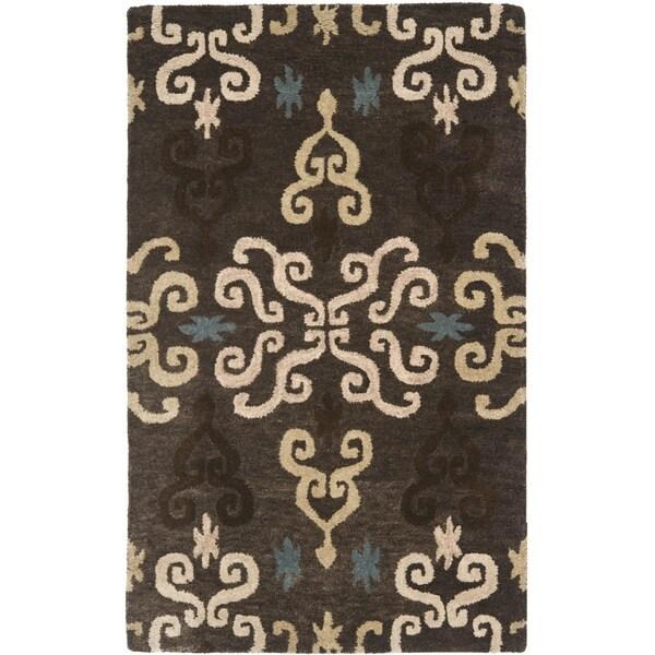 Safavieh Handmade Wyndham Brown New Zealand Wool Rug (2'6 x 4')