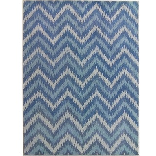 Safavieh Handmade Wyndham Blue New Zealand Wool Area Rug (8' x 10')