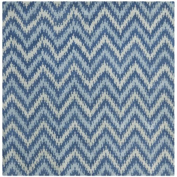 Safavieh Handmade Wyndham Blue New Zealand Wool Rug (7' Square)