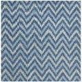Safavieh Handmade Wyndham Blue New Zealand Wool Rug (7' Square)