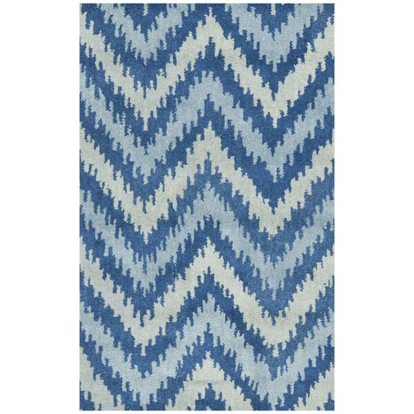 Safavieh Handmade Wyndham Blue New Zealand Wool Rug (2'6 x 4')