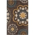 Safavieh Handmade Wyndham Dark Eggplant New Zealand Wool Rug (2'6 x 4')