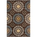 Safavieh Handmade Wyndham Dark Eggplant New Zealand Wool Rug (5' x 8')