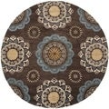 Safavieh Handmade Wyndham Dark Eggplant New Zealand Wool Rug (7' Round)