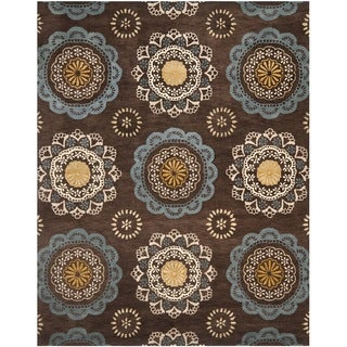 Safavieh Handmade Wyndham Dark Eggplant New Zealand Wool Area Rug (8' x 10')