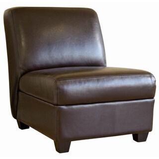 Baxton Studio Mocha Brown Faux Leather Chair