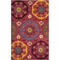 Safavieh Handmade Wyndham Red New Zealand Wool Rug (4' x 6')