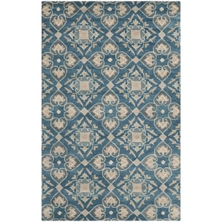 Safavieh Handmade Wyndham Blue New Zealand Wool Rug (5' x 8')