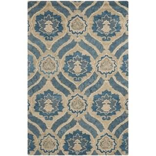 Safavieh Handmade Wyndham Blue New Zealand Wool Rug (4' x 6')