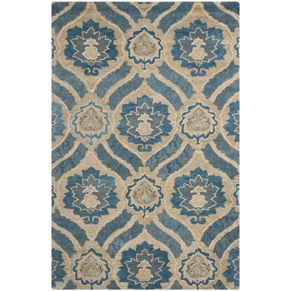 Safavieh Handmade Wyndham Blue New Zealand Wool Area Rug (5' x 8')