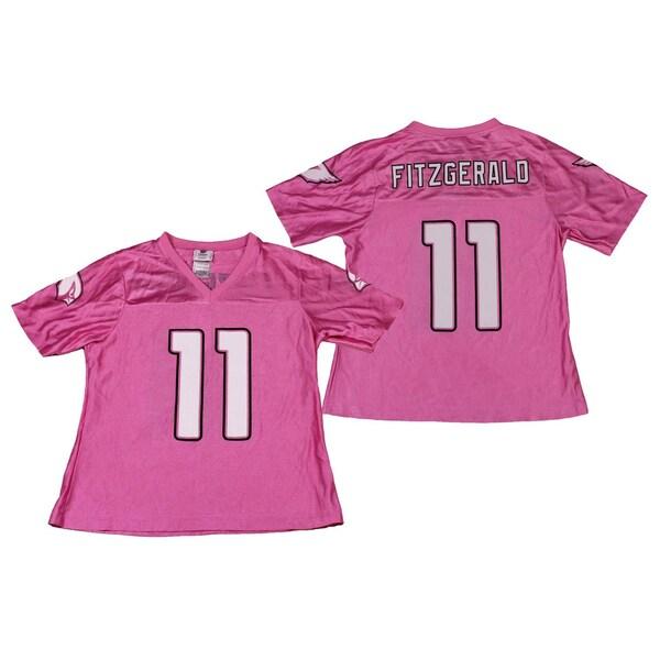 Reebok Arizona Cardinals NFL Women's Larry Fitzgerald Pink Dazzle Jersey