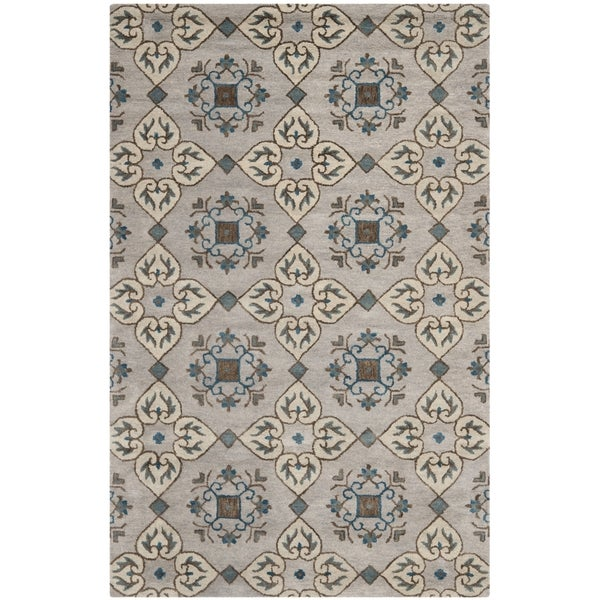 Safavieh Handmade Wyndham Beige New Zealand Wool Area Rug (5' x 8')