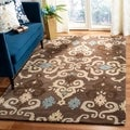 Safavieh Handmade Wyndham Brown New Zealand Wool Rug (8' x 10')