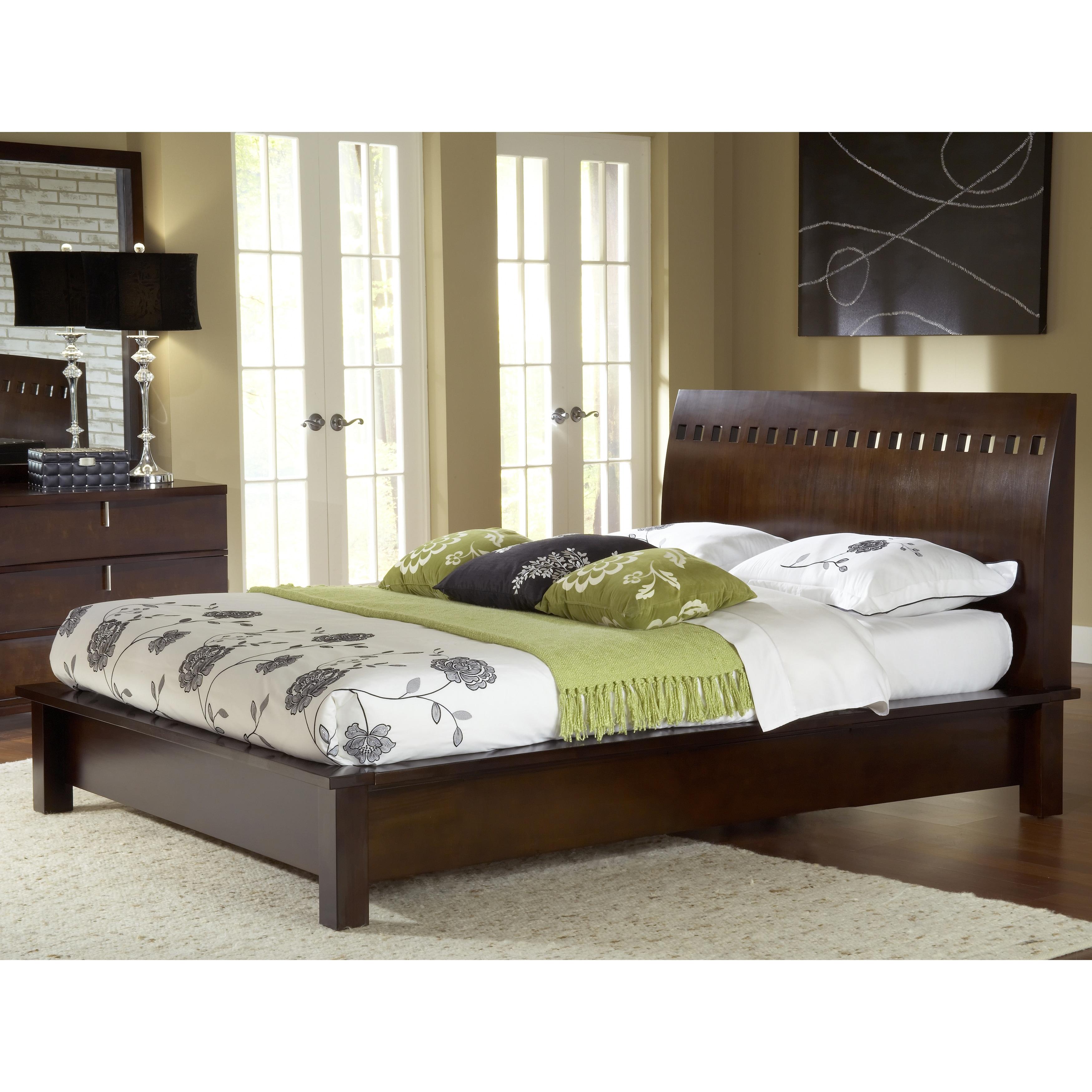 Domusindo Square Cutout Chocolate Brown Modern Platform Bed