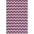 Handwoven Berry Chevron Berry Wool Rug (9' x 13')