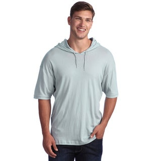 American Apparel Unisex Martini Blue Sheer Hooded T-Shirt