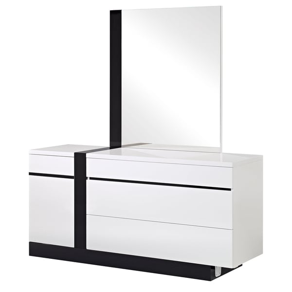 Trinity White/ Black Finish Dresser