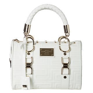 Versace Couture 'Vernice' White Patent Leather Satchel Bag