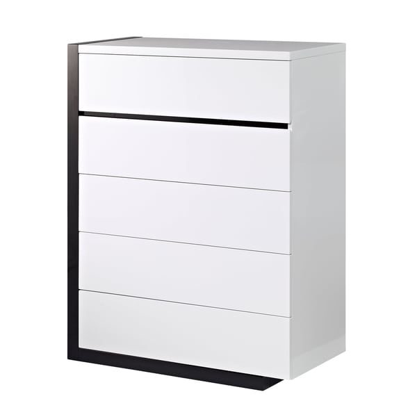 Trinity White/ Black Finish Chest