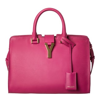 Yves Saint Laurent 'Cabas Classique Y' Pink Leather Tote Bag
