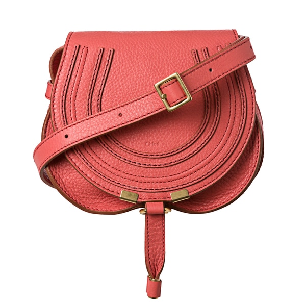 Chloé 'Marcie' Mini Paradise Pink Leather Round Cross-body Bag