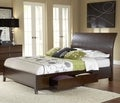 Wave Patterned Chocolate Brown 4-drawer Storage Bed