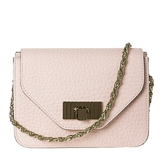 Chloe 'Sally' Small Light Pink Textured Leather Cross-body Bag