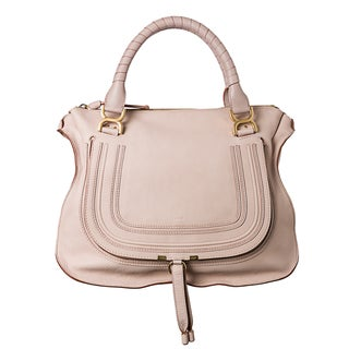 Chloe 'Marcie' Large Light Pink Leather Shoulder Bag