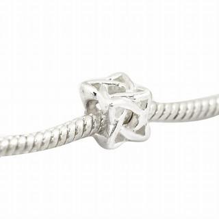 De Buman Sterling Silver Celtic Cube Charm Bead
