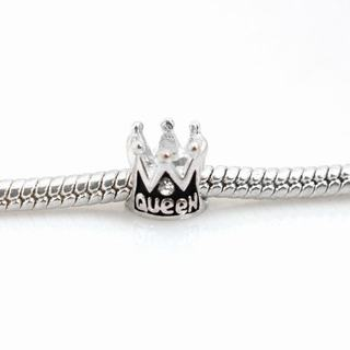 De Buman Sterling Silver Queen Crown Charm Bead