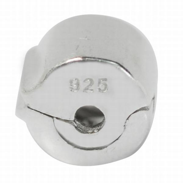 De Buman Sterling Silver Lock Charm Bead