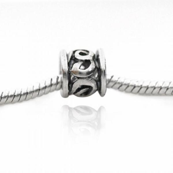 De Buman Sterling Silver Symbols Charm Bead