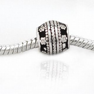 De Buman Sterling Silver Flower Charm Bead