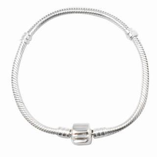De Buman Sterling Silver Snake Charm Bracelet