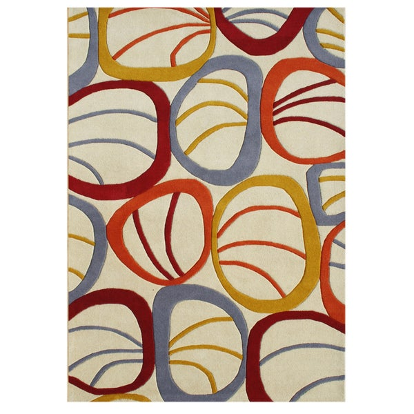 Alliyah Handmade Sand Shell New Zealand Blend Blend Wool Rug (5' x 8')
