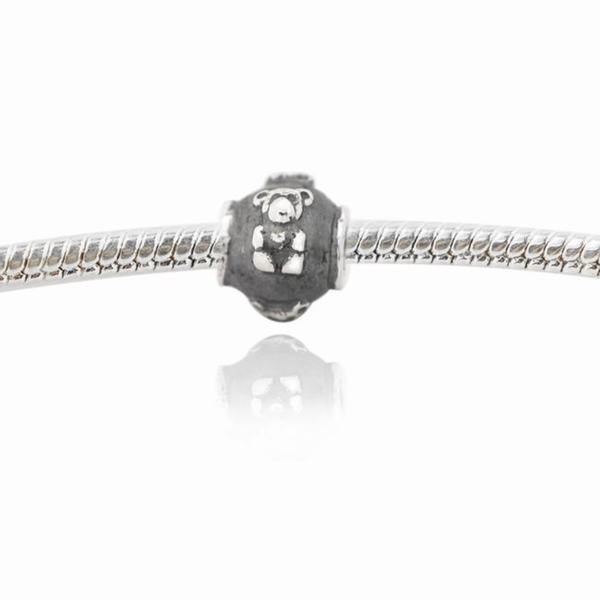 De Buman Sterling Silver Little Bear Charm Bead