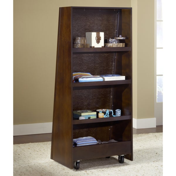 Chocolate Brown Bookcase Back Floor Mirror