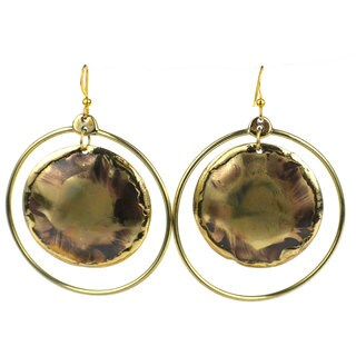 Handcrafted Nebula Brass Earrings (South Africa)
