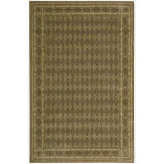 Cosmopolitan Diamond Print Cocoa Wool Rug (9'9 x 13'9)