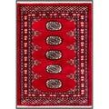 "Pakistani Hand-Knotted Bokhara Geometric Red/Ivory Wool Rug (2'1"" x 2'10"")"