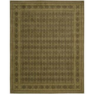Cosmopolitan Diamond Print Cocoa Wool Rug (8'3 x 11'3)