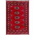 Pakistani Hand-knotted Bokhara Red/ Ivory Wool Rug (1'11 x 2'11)