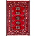 Pakistani Hand-knotted Bokhara Red/ Ivory Wool Rug (2' x 3'1)