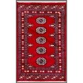 Pakistani Hand-knotted Bokhara Red/ Ivory Wool Rug (2' x 3'3)