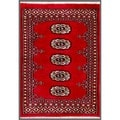 Pakistani Hand-knotted Bokhara Red/ Ivory Wool Rug (2' x 2' 10)