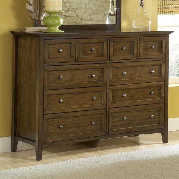 Modern Shaker 8-drawer Mahogany Dresser