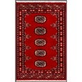 Pakistani Hand-knotted Bokhara Red/ Ivory Wool Rug (1' 11 x 3')