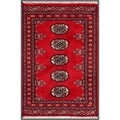 Pakistani Hand-knotted Bokhara Red/ Ivory Wool Rug (2' x 2' 11)