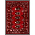 Pakistani Hand-knotted Bokhara Red/ Ivory Wool Rug (2'1 x 2'10)