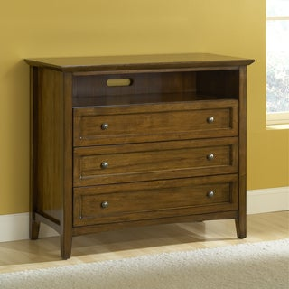 Modern Shaker 2-drawer Truffle Mahogany Media Chest